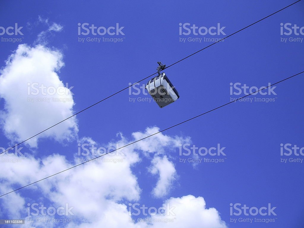 Lisbon cableway royalty-free stock photo