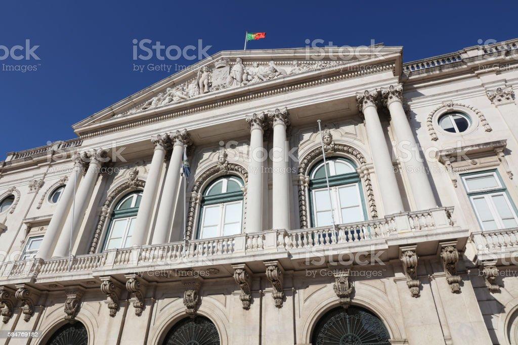 Lisbon City Hall. Portugal stock photo