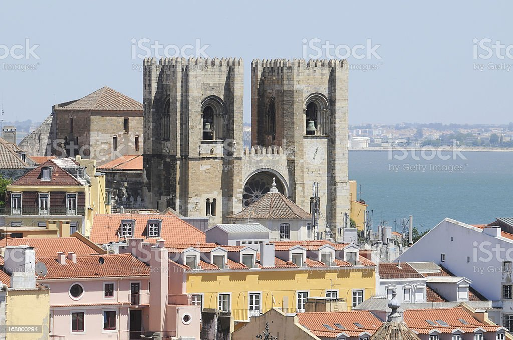Lisbon city in Portugal from above royalty-free stock photo