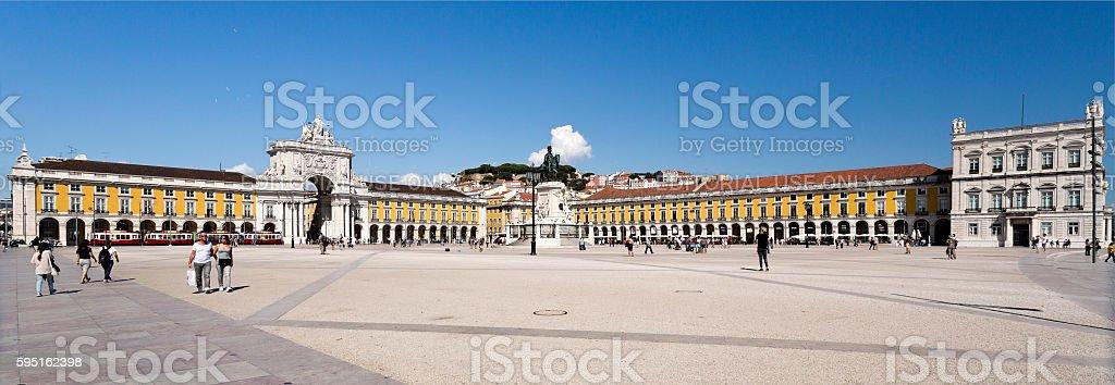 Lisbon Commerce Square stock photo