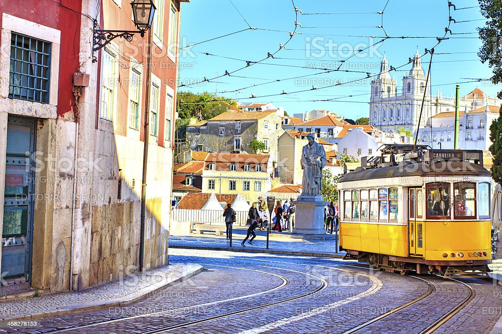 Lisbon downtown stock photo