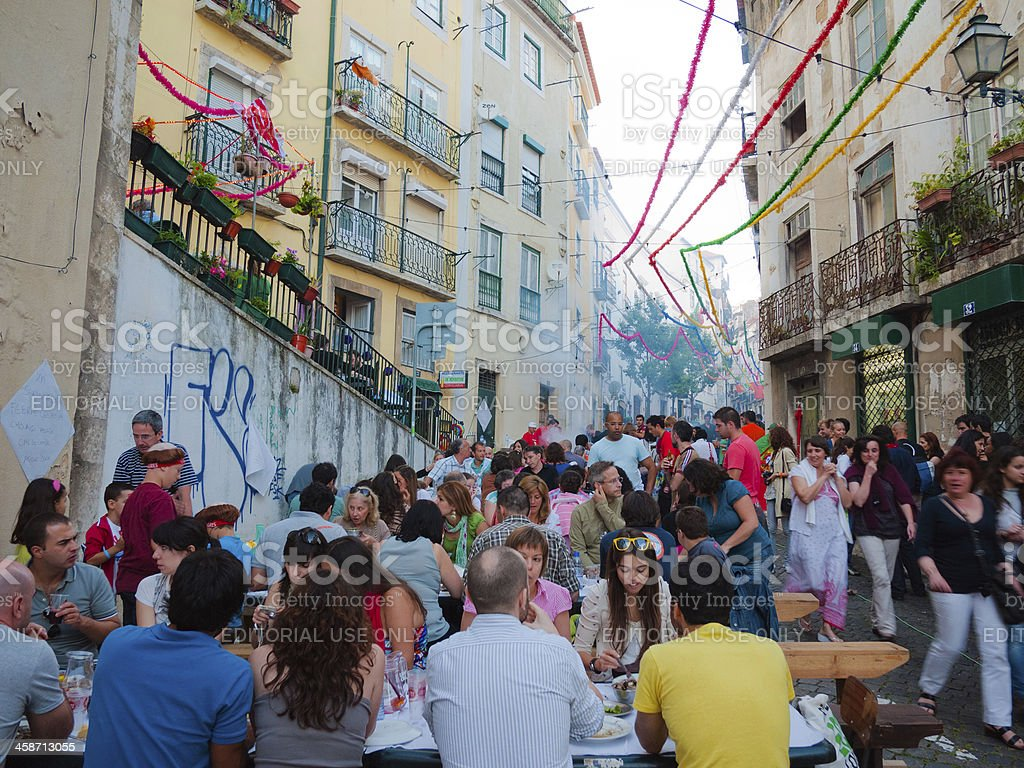 Lisbon Festival, Fiestas de Lisboa royalty-free stock photo