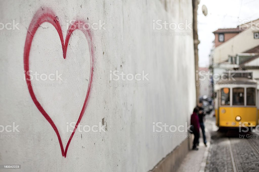 Lisbon , in love royalty-free stock photo