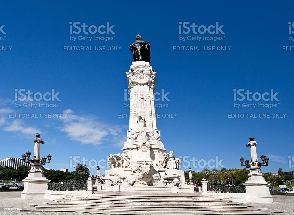 Lisbon Marquis of Pombal stock photo