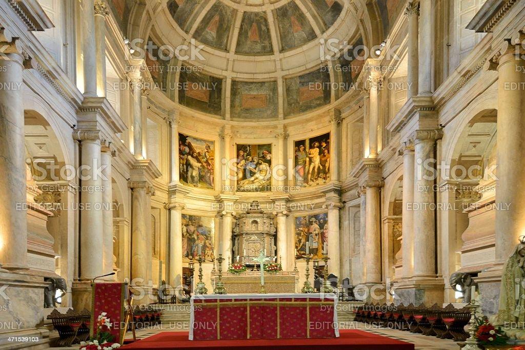 Lisbon Monastery Altar stock photo