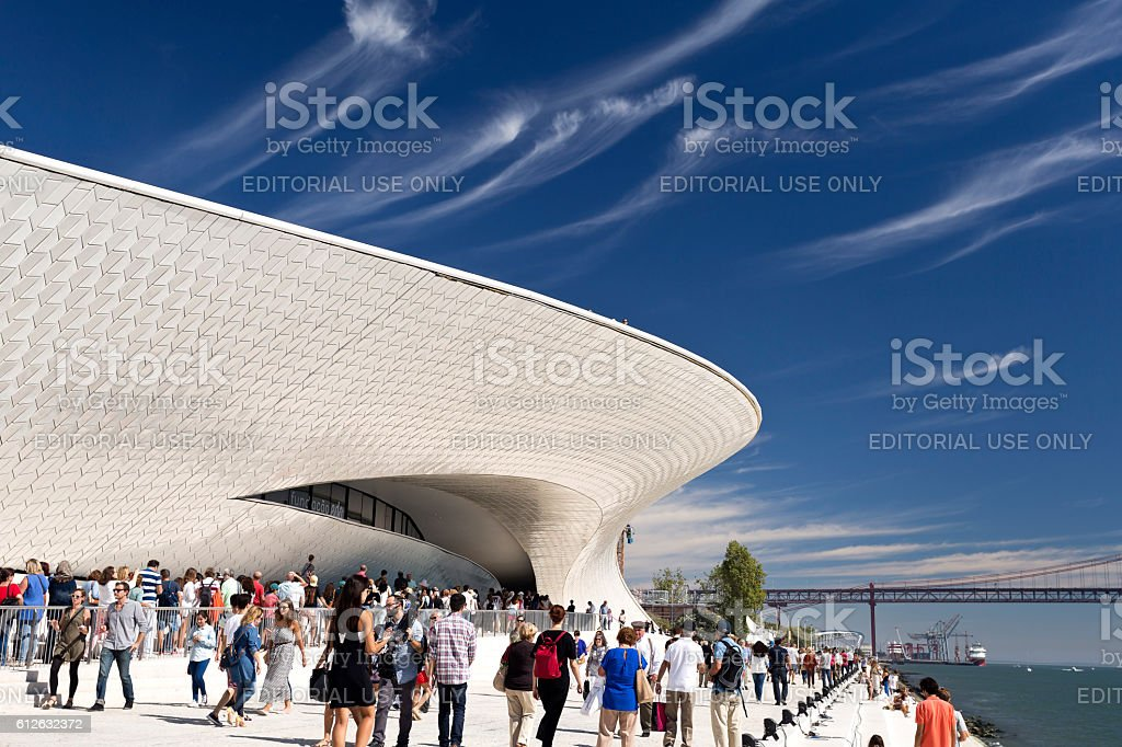 Lisbon Newest Museum stock photo