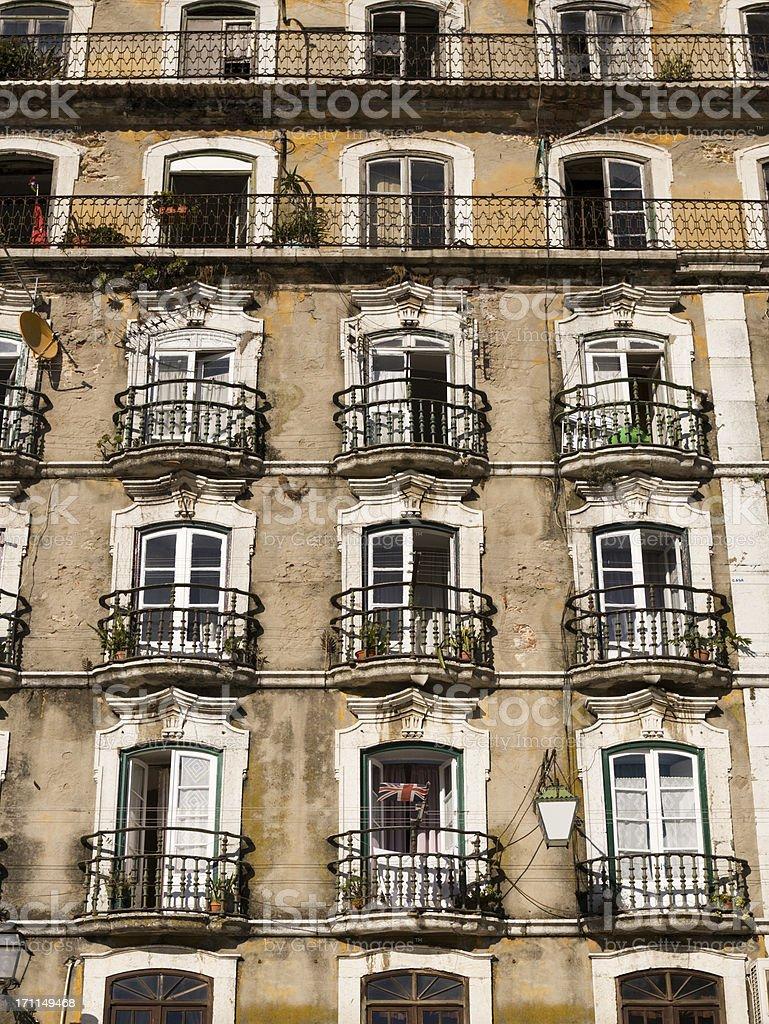 Lisbon old building stock photo