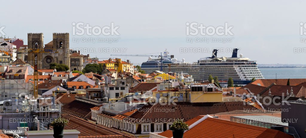 Lisbon Old Town stock photo