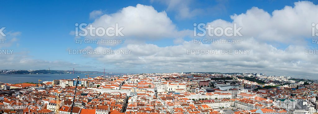 Lisbon panorama royalty-free stock photo