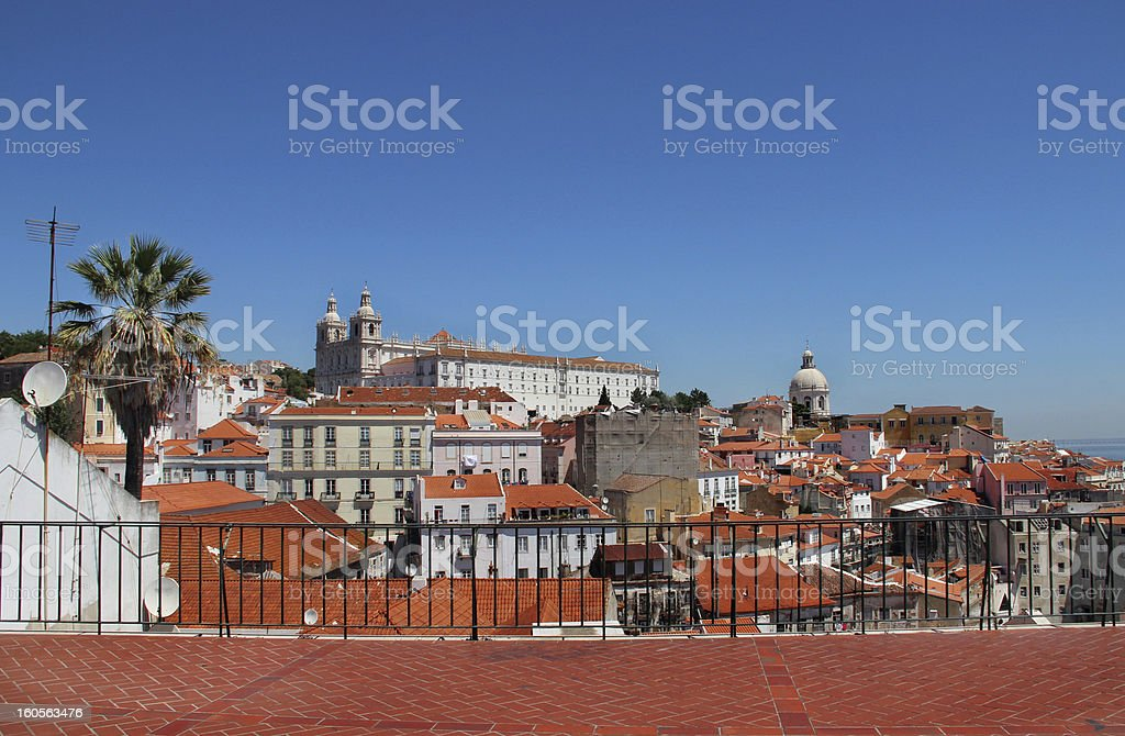 Lisbon panorama, Portugal royalty-free stock photo