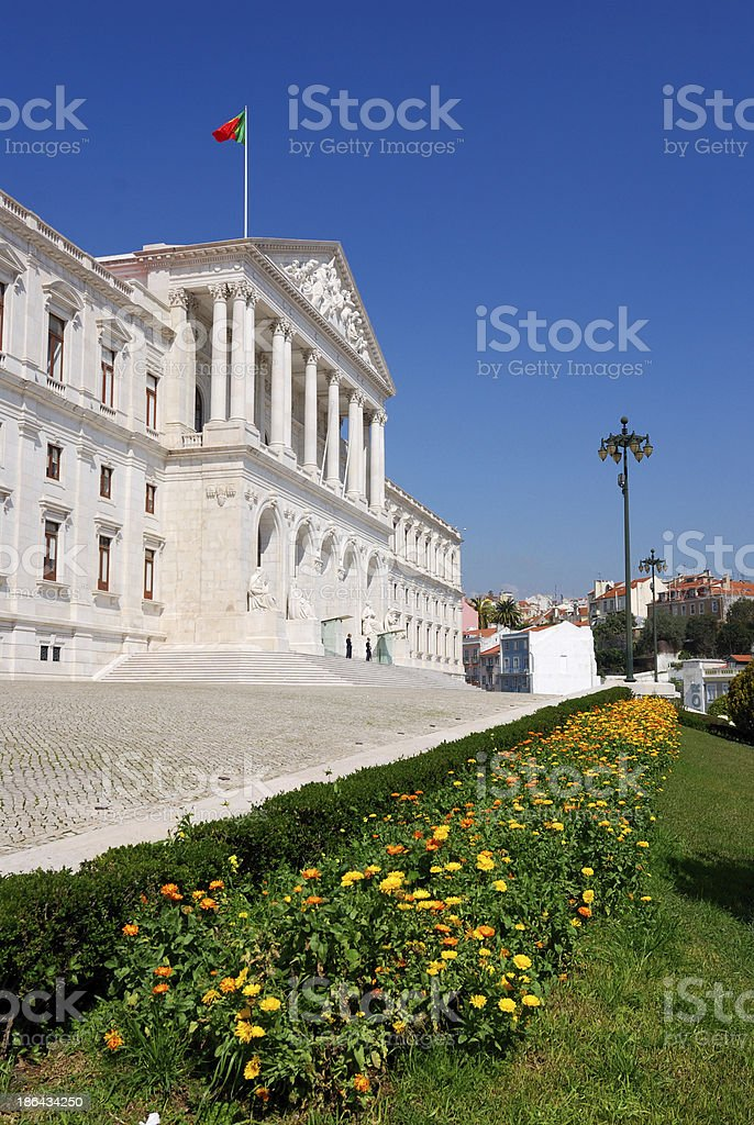 Lisbon Parliament in Portugal royalty-free stock photo