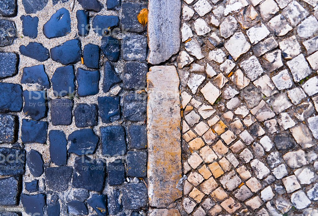 Lisbon pavement royalty-free stock photo