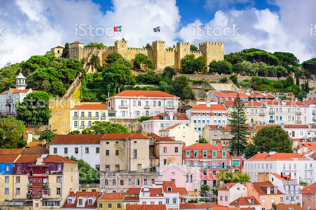 Lisbon Portugal Castle stock photo