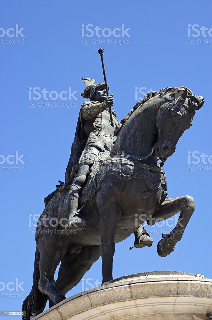 Lisbon, Portugal. Jao Monument stock photo