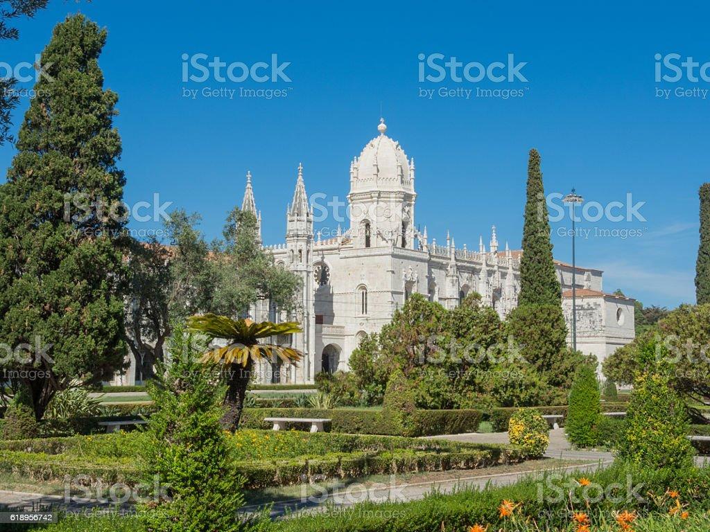 Lisbon, Portugal. Jeronimos Monastery stock photo