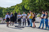 Lisbon, Portugal. Praxe, a University ritual initiation