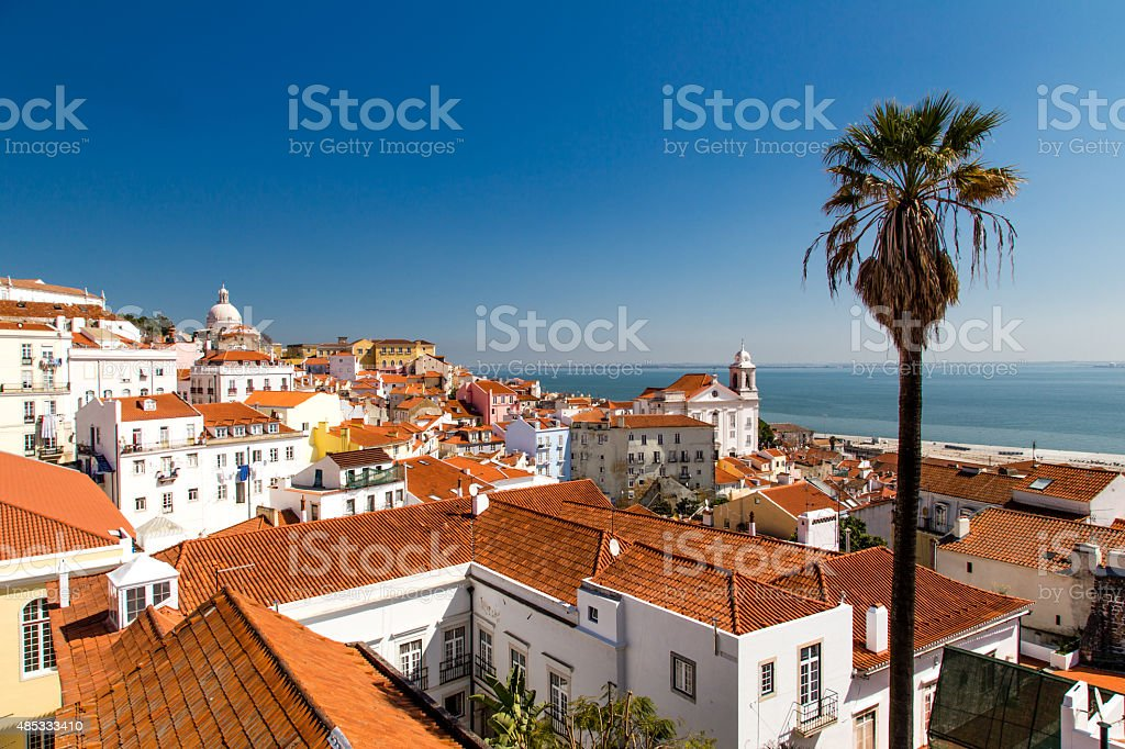 Lisbon, Portugal Skyline at Alfama stock photo