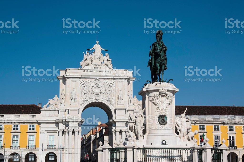 Lisbon Praca do Comercio stock photo
