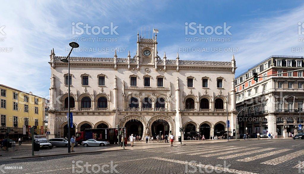 Lisbon Rossio Railway Station stock photo
