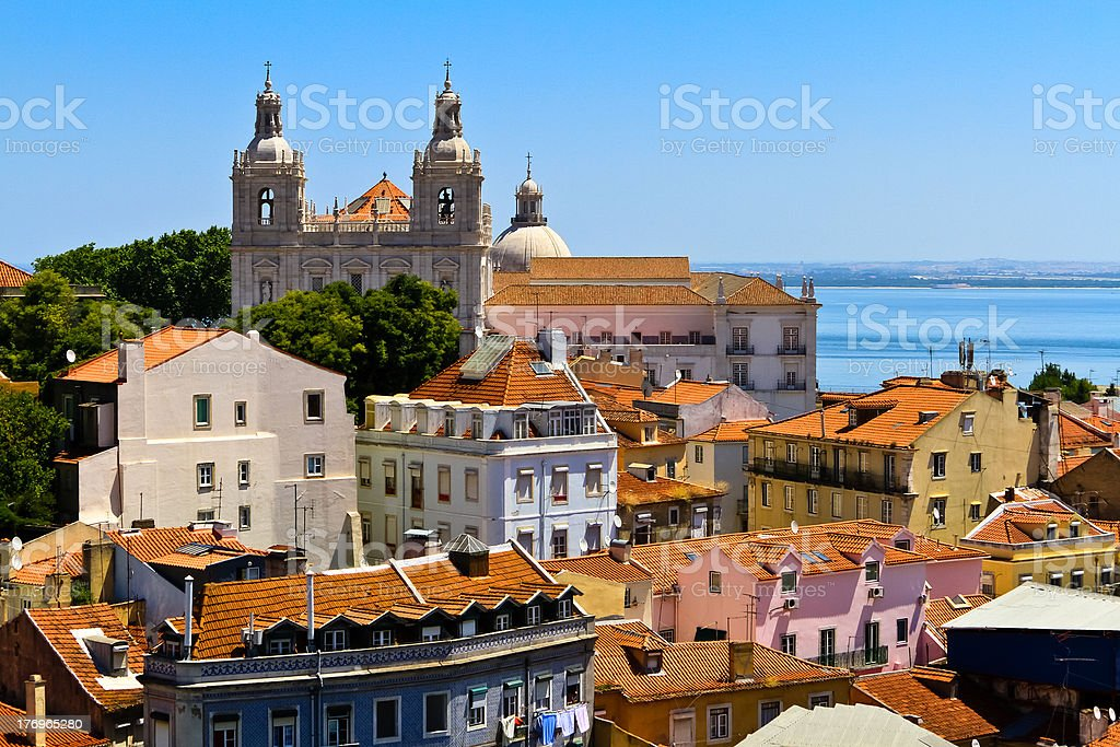Lisbon skyline stock photo