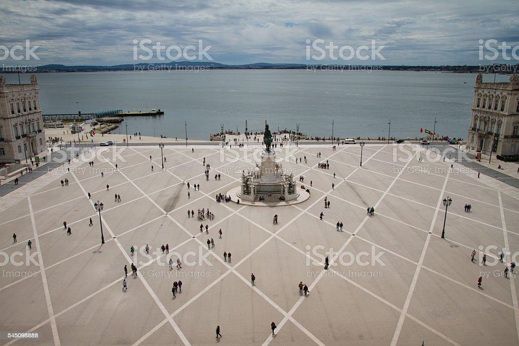 Lisbon Square Trade stock photo
