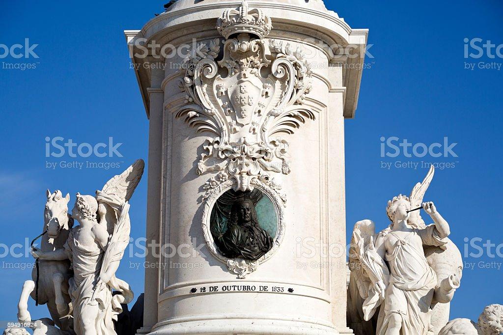 Lisbon Statue of King Dom Jose stock photo