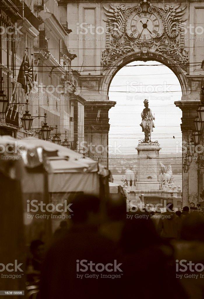 Lisbon Street royalty-free stock photo