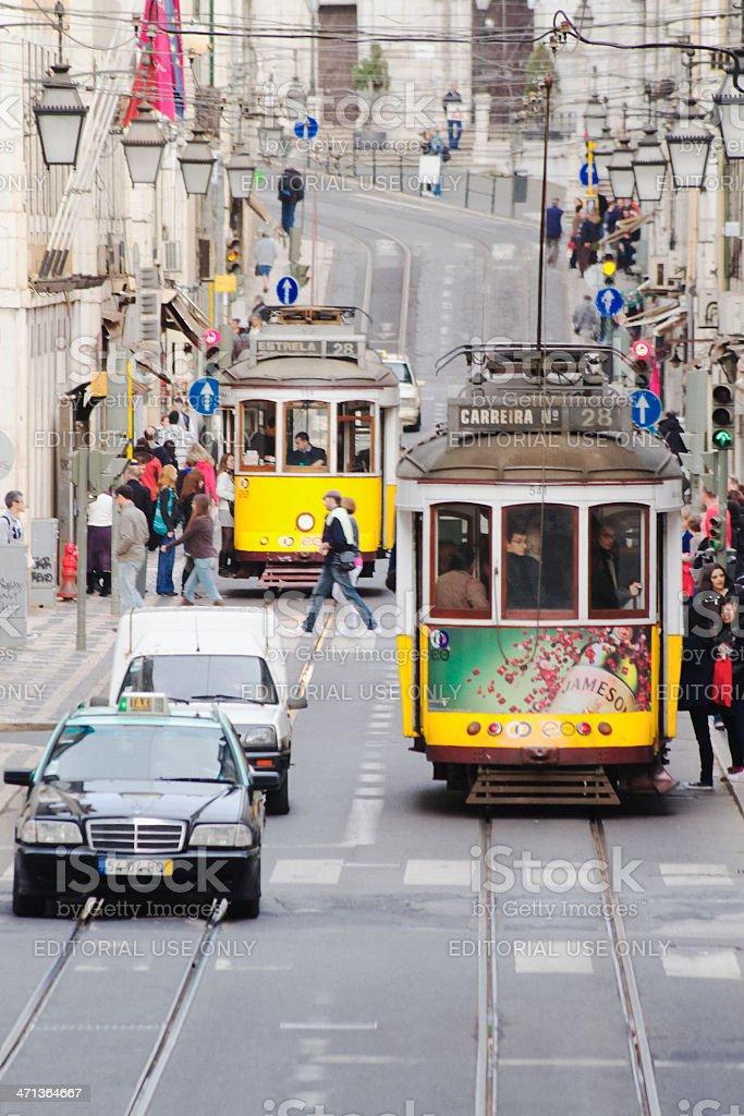 Lisbon Street stock photo