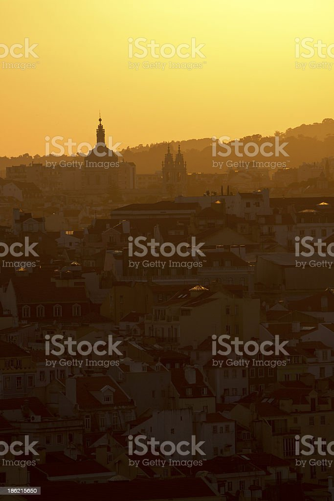 Lisbon sunset stock photo