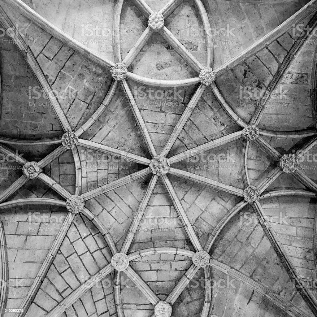 Lisbon, the cloister of the Monastery Dos Jeronimos stock photo