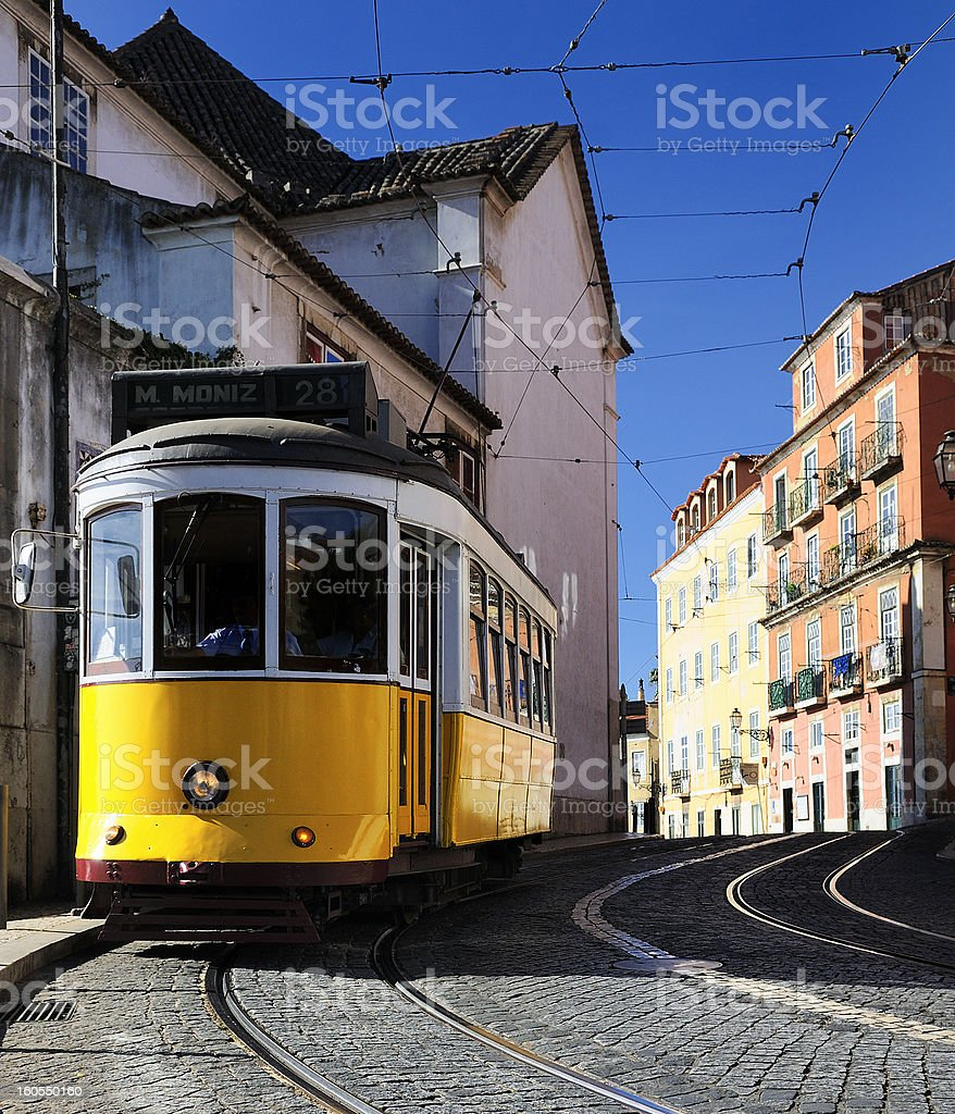Lisbon Tram royalty-free stock photo
