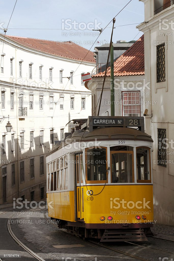 Lisbona in Tram foto stock royalty-free