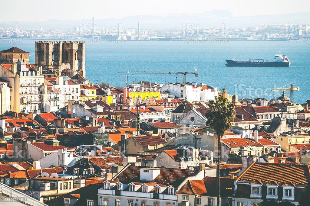 Lisbon view. stock photo
