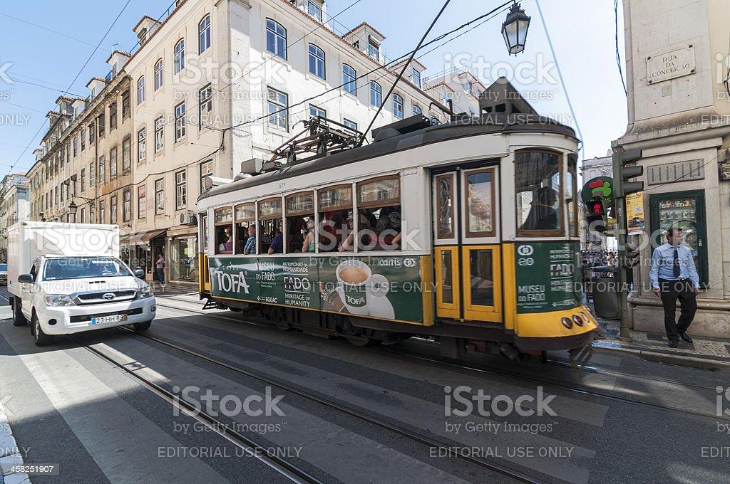 Lisbon Yellow Tram stock photo