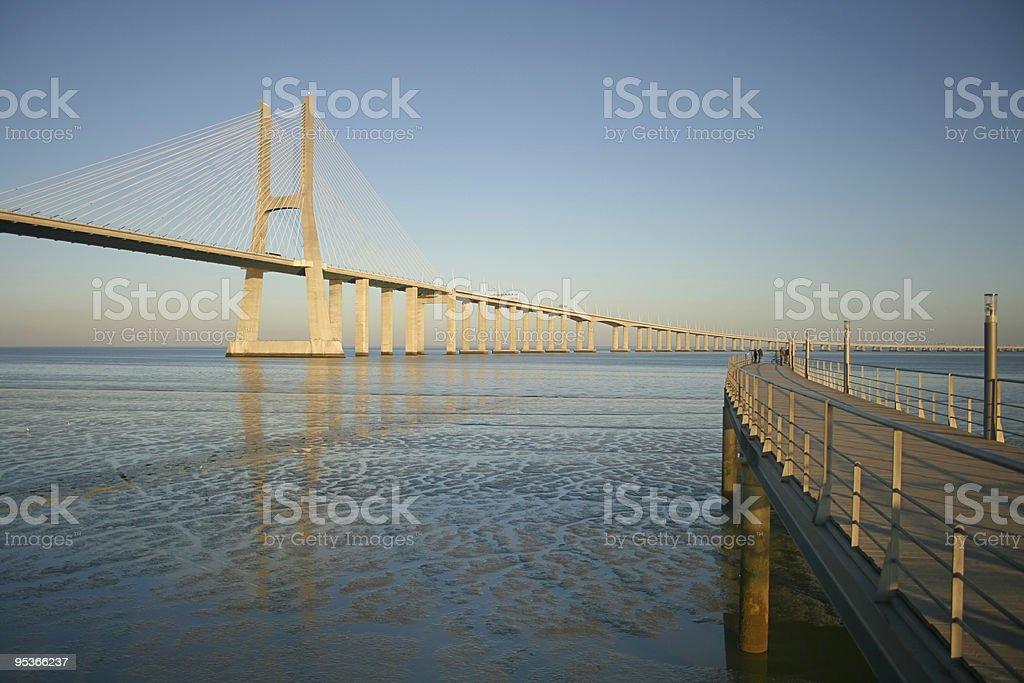 lisbon's bridge royalty-free stock photo