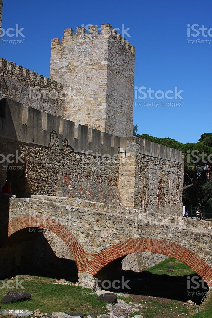 Lisbon's Castle royalty-free stock photo