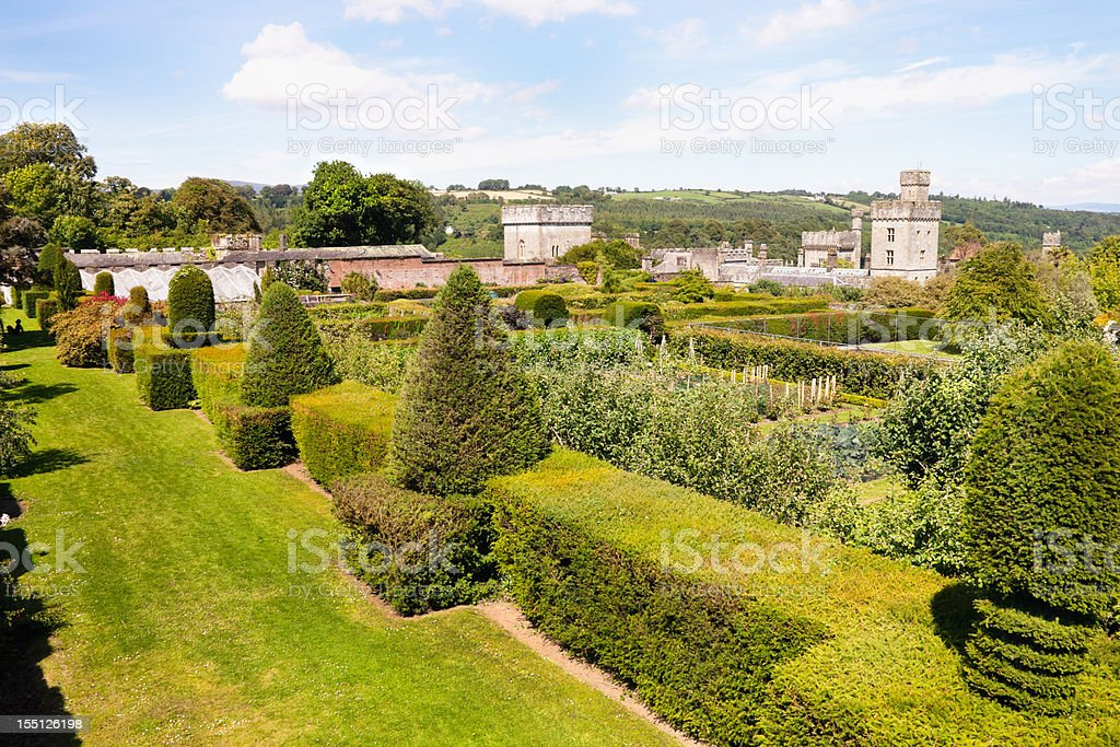Lismore Castle, County Waterford, Ireland Upper Gardens stock photo