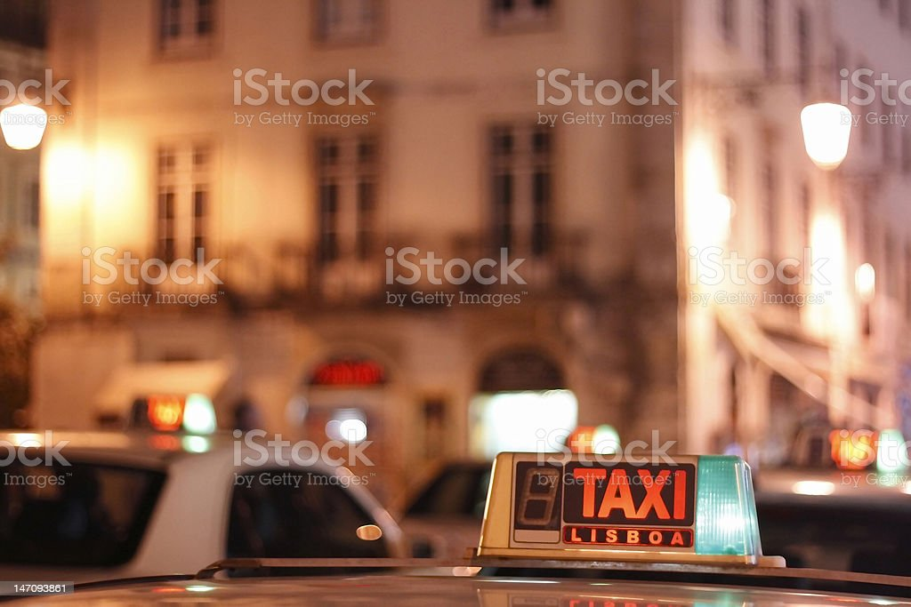 Lissabon taxi royalty-free stock photo