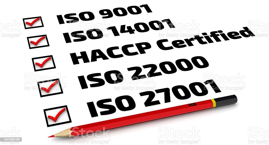 List of ISO standards stock photo