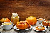 List of pumpkin dishes.