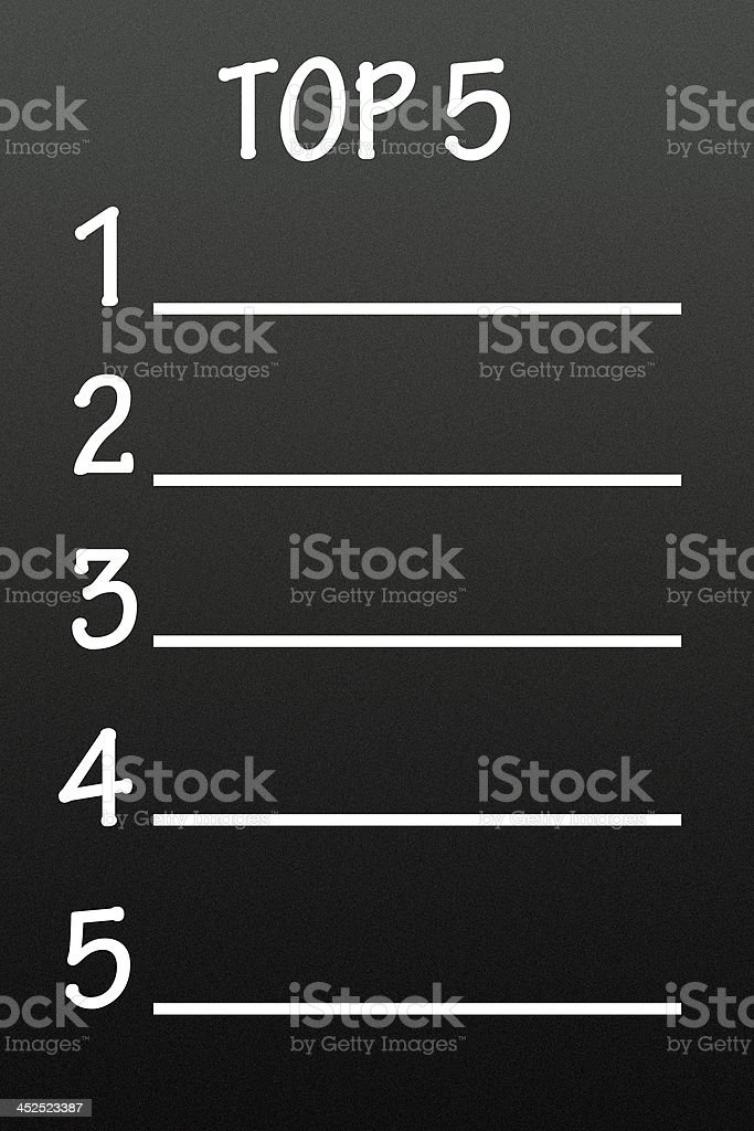 list of top 5 stock photo