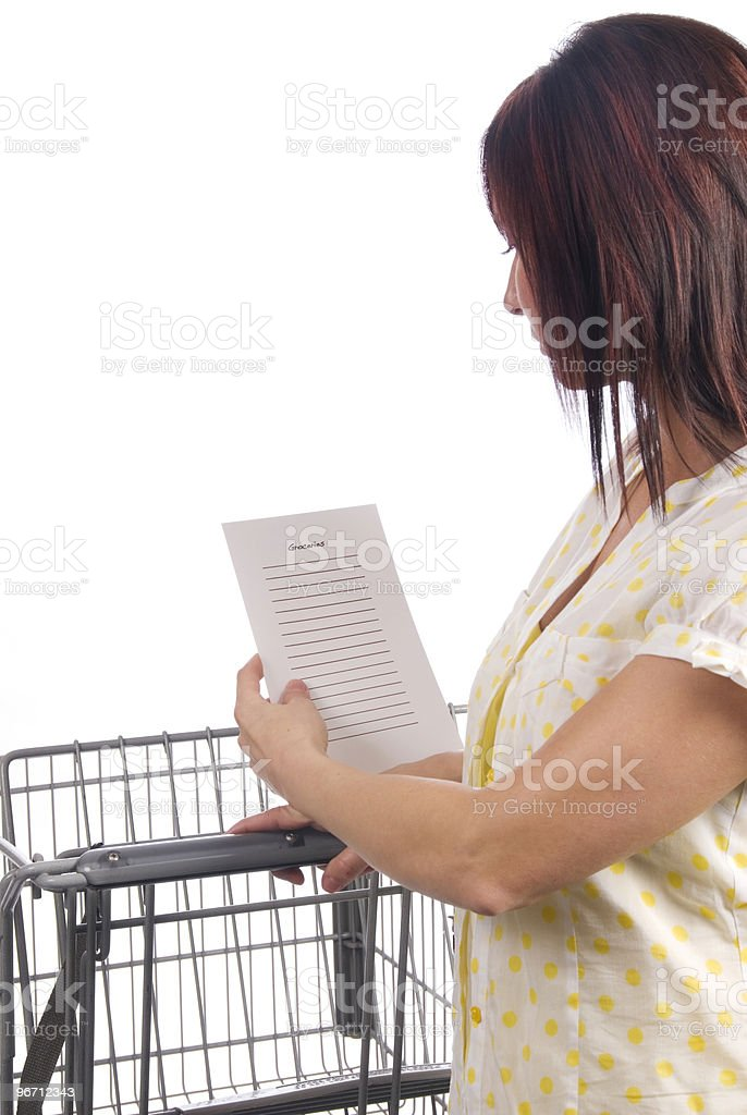 List Series - Groceries royalty-free stock photo