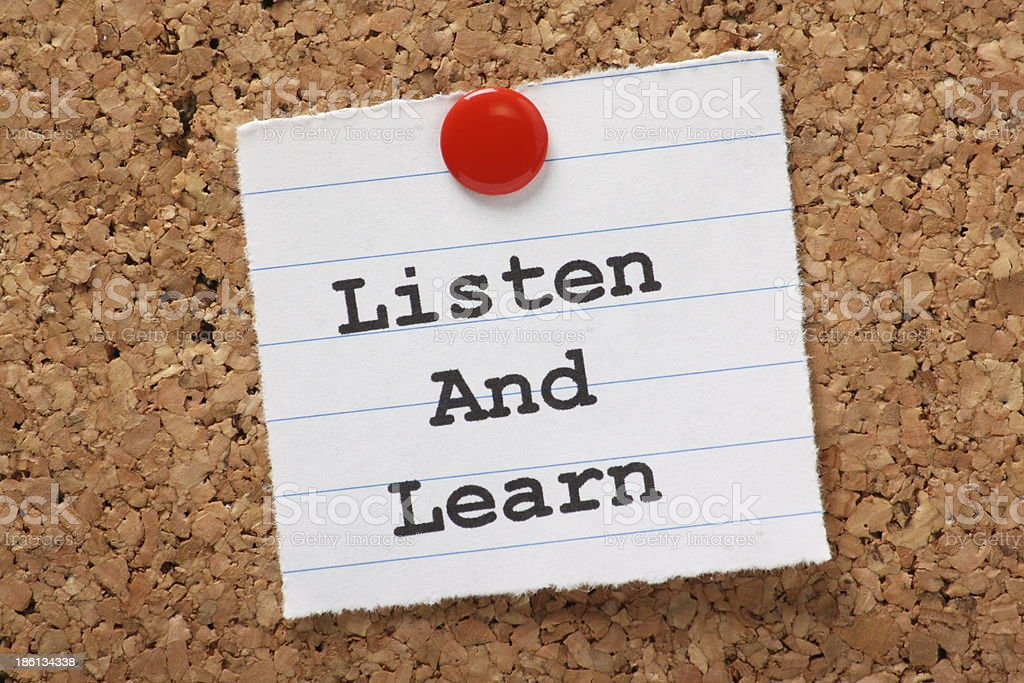 Listen and Learn royalty-free stock photo