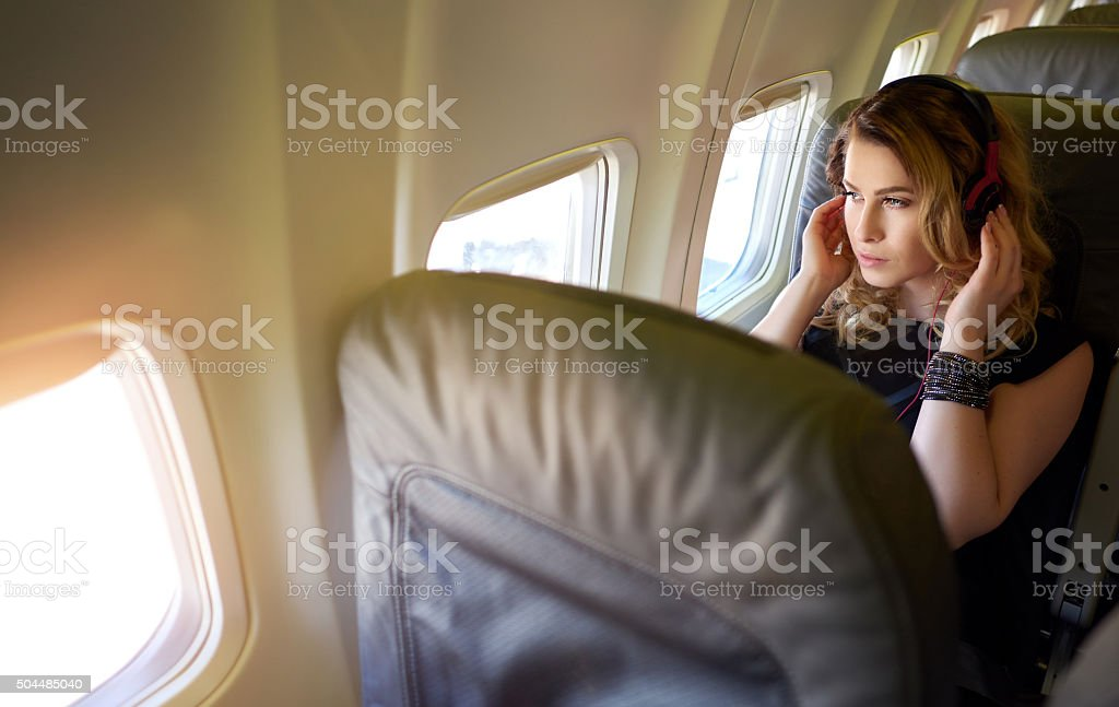 listen music and relaxing stock photo