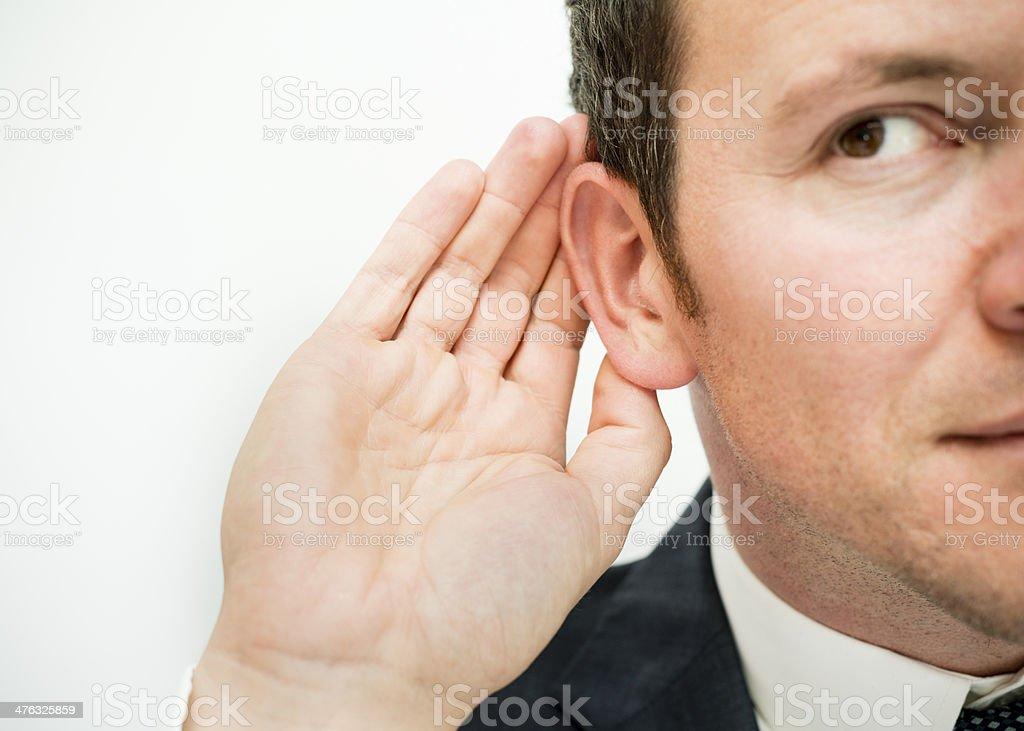 Listen... stock photo