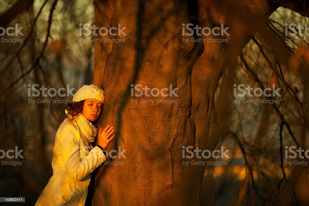 Listen to Mother Earth royalty-free stock photo