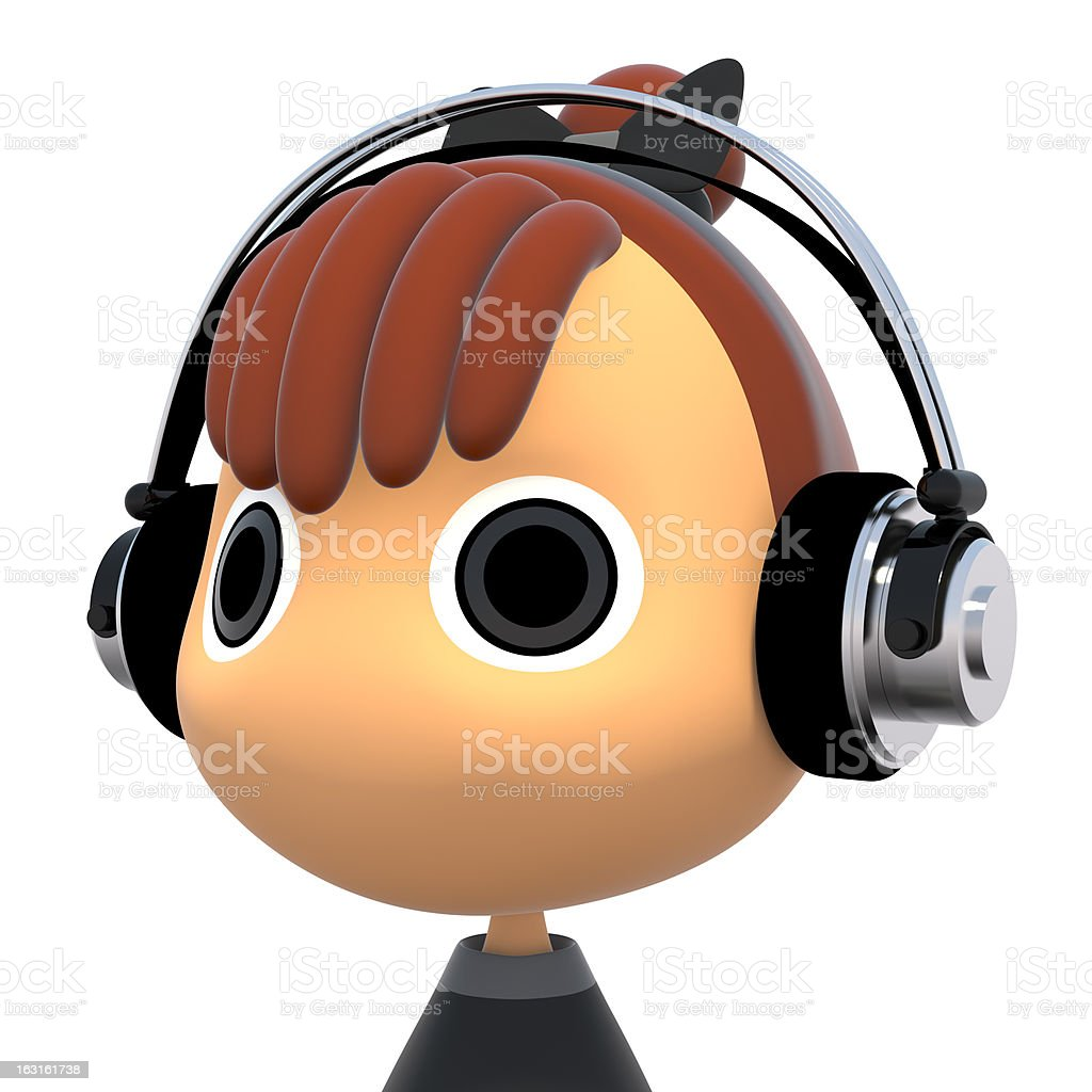 Listen to music royalty-free stock photo
