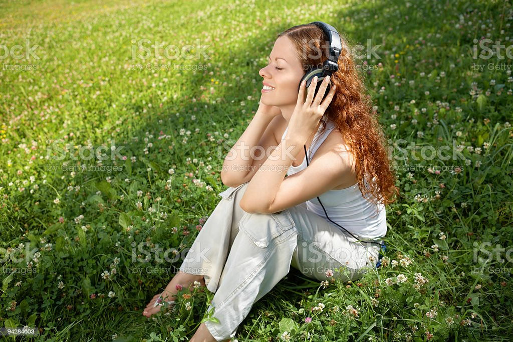 Listen to music! royalty-free stock photo