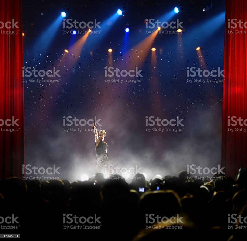 Listen to the crowd royalty-free stock photo
