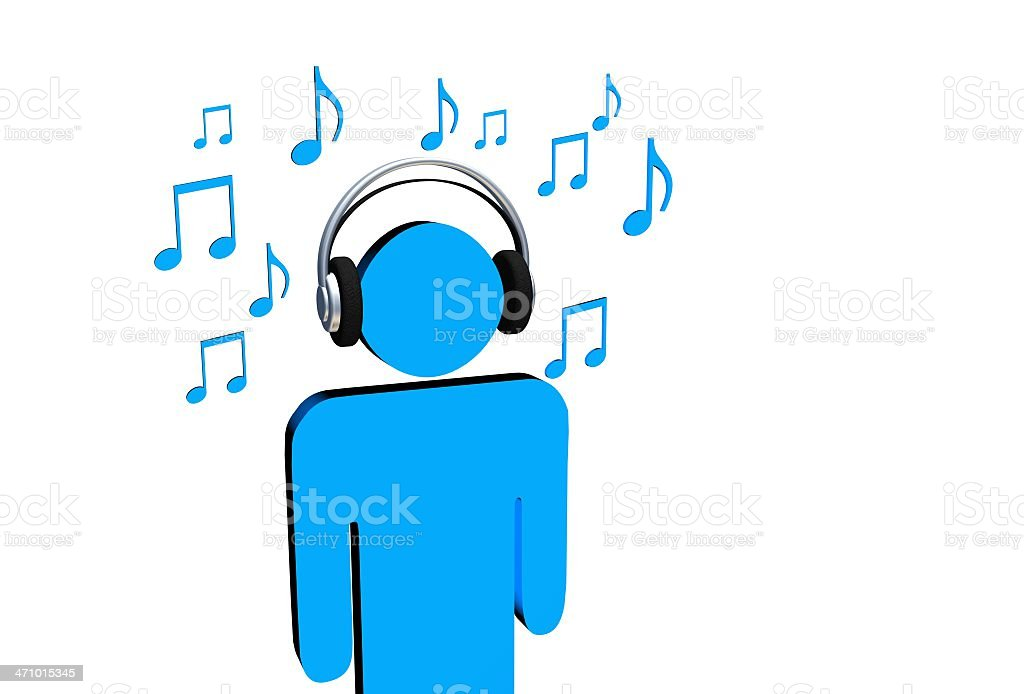 Listen to the music royalty-free stock photo